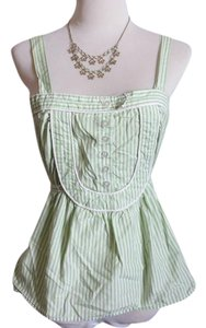Anthropologie Buttons Nautical Sailor Top Green, White