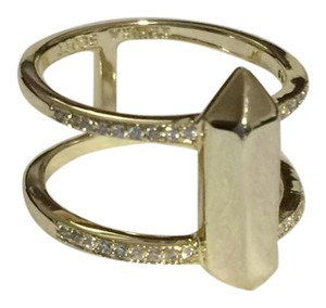 Kendra Scott Gold Ring with Clear Crystals