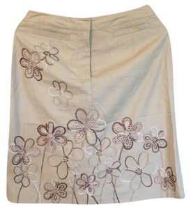 Talbots Skirt tan, brown, white