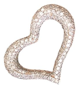 Pink Diamond Heart Beautiful Diamond Heart Pendant in 14K Rose Gold