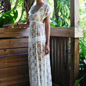 Nwt Handmade Lace Nightgown