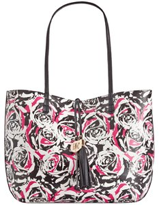 INC International Concepts Tote in Black/ Pink/ White