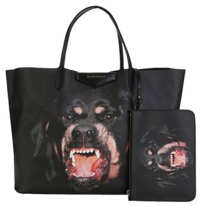 Givenchy New Rottweiler Discount Large Designer Tote in Black