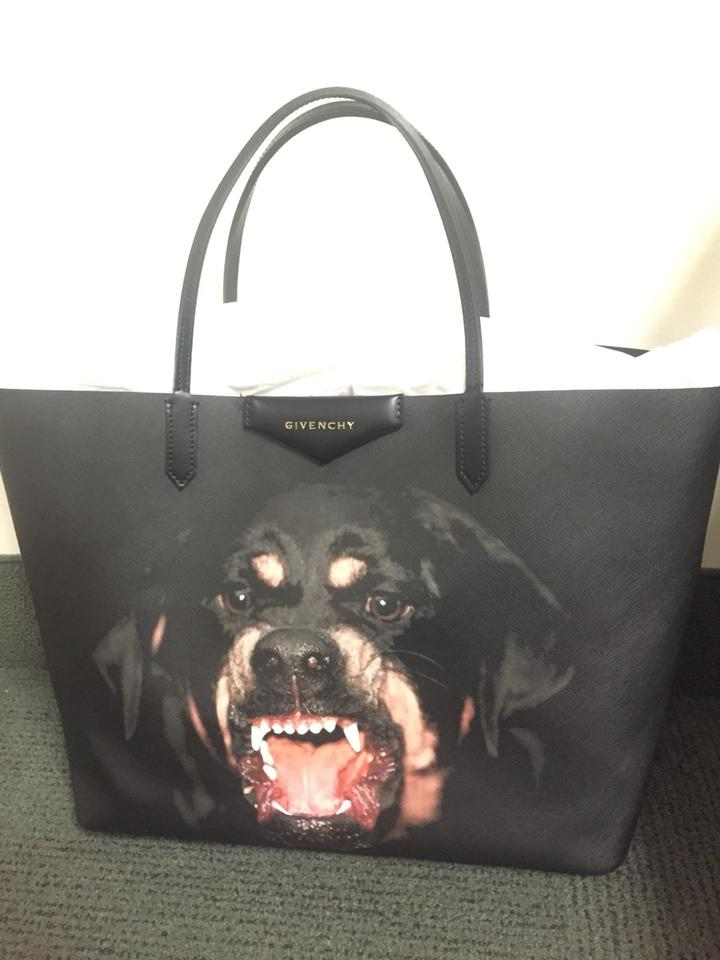 Givenchy New Rottweiler Discount Large Designer Tote in Black Image 5.  123456 733664759f177