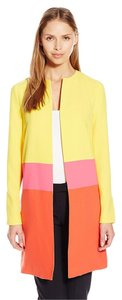 Anne Klein Colorblock Topper Spring Royal Yellow Combo Jacket