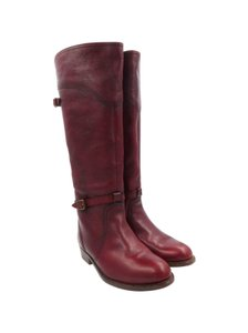 Frye Leather Red Boots