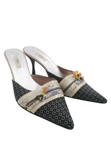 Prada Mules Asian Print Multi color Pumps