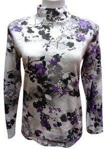 Karen Scott Floral Turtleneck Sweater