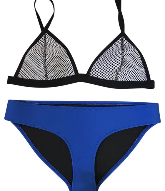 Item - White Mesh and Cobalt Ollie Bikini Set Size 8 (M)