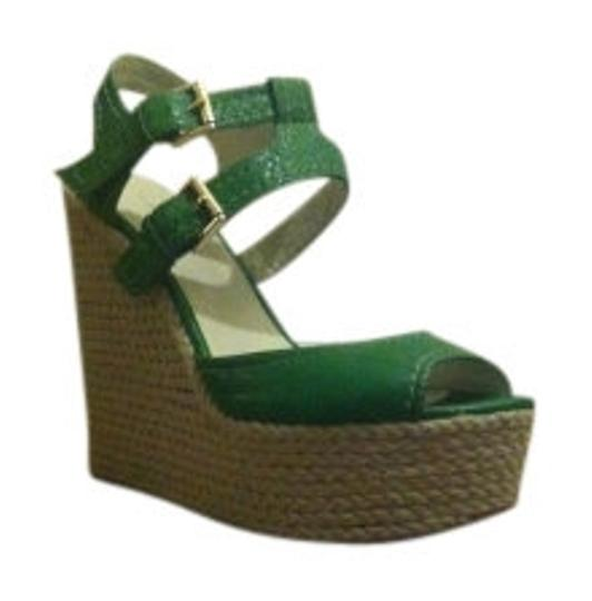 Nine West Green Wedges