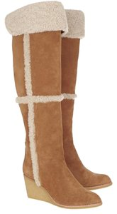 Tory Burch Tall Over The Knee Cassius Wedge Boots