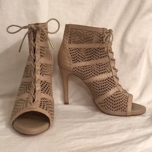 Joie Leather Designer Suede Buff (beige) Boots