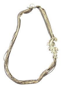Banana Republic Multi-strand necklace in silver tones