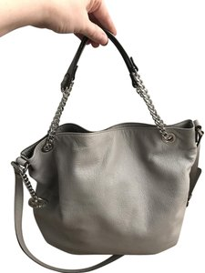 Michael Kors Leather Tote in Gray
