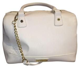 Steve Madden Satchel in white gold