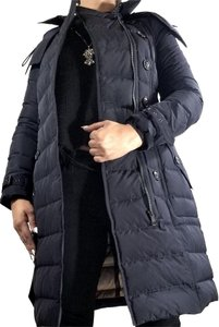 Burberry Brit Detachable Hood Quilted Coat