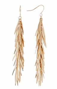 Olivia Welles New Cluster of Shine Long Dangle Earrings