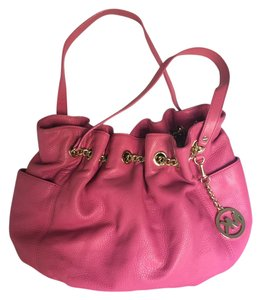 Michael Kors Leather Gold Tote in Pink