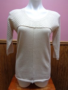 Chico's Mesh 3/4 Sleeve Sweater