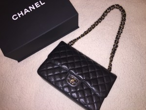 Chanel Flap Caviar Ghw Jumbo Flap Shoulder Bag
