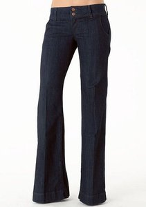 Alloy Apparel Trouser/Wide Leg Jeans-Dark Rinse
