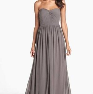 Jenny Yoo Charcoal Gray Jenny Yoo Charcoal Chiffon Convertible Aidan Dress Dress