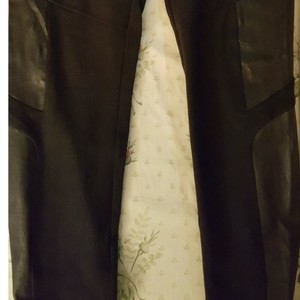 Rag & Bone Leather Party Date Night Day To Night Work Wear Skinny Pants Black
