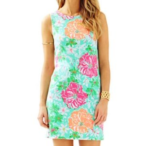 Lilly Pulitzer short dress poolside blue beach walk on Tradesy