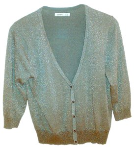 Old Navy Women Clothing Button Down Shirt Size S/P Gray Color Top Silver