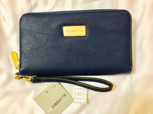 Liz Claiborne Lc Wallet Navy Gold Wristlet in Navy Blue