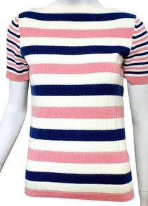 Chanel Cashmere Striped Pink Sweater