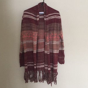nectar clothing Bohemian Fringe Colored Sweater
