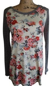 12pm by Mon Ami T Shirt grey/ivory/pink floral