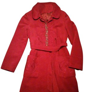 Cacharel Cashmere Belted Lined Trench Coat