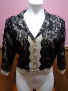 Newport News Lace Button Down Sweater