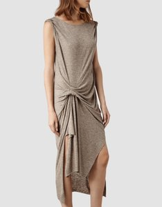 Fawn brown Maxi Dress by AllSaints