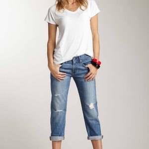 AG Adriano Goldschmied Boyfriend Cut Jeans-Distressed