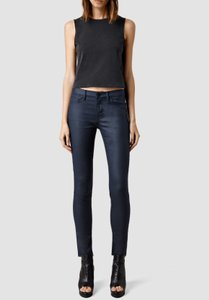 AllSaints Skinny Jeans-Coated
