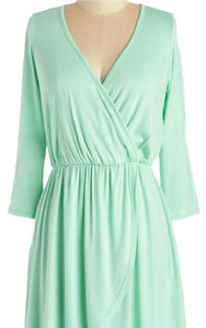 Modcloth short dress Mint Green Summer Stretch Soft Wrap on Tradesy