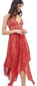 For Love & Lemons Lace Midi Forloveandlemon Red Dress