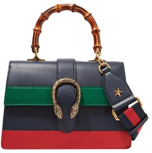 Gucci New Dionysus Medium Tiger Tote in Blue, green, red