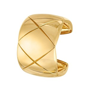 Other Gold Quilted Cuff Bracelet