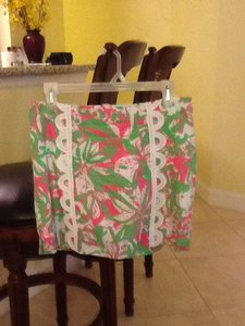 Lilly Pulitzer Mini Skirt Pink/green/white
