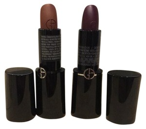 Giorgio Armani Rouge d'Armani #203 brown and #624 sheers plum