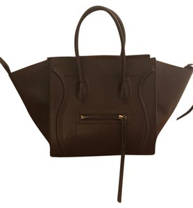 Cline Celine Leather Phantom Tote in Brown