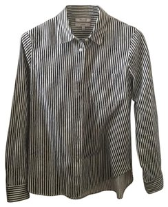 Madewell Button Down Shirt black and white
