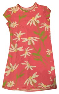 Lilly Pulitzer short dress Pink with flowers on Tradesy