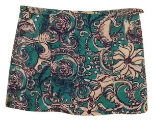Lilly Pulitzer Mini Skirt Turquoise/Navy/White