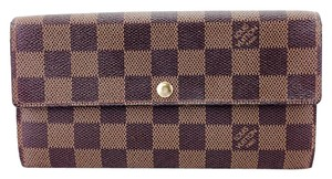 Louis Vuitton Louis Vuitton Damier Ebene Sarah Bi-Fold Long Flap Wallet