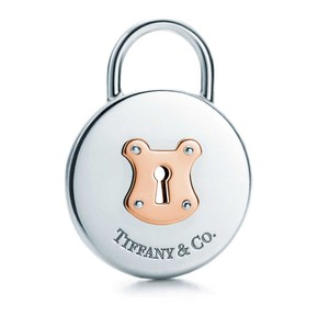 Tiffany & Co. Tiffany & Co. Round Lock Pendant with Rose Gold Accents